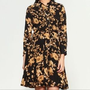 Nanette Lepore Floral Pintuck Shirt Dress